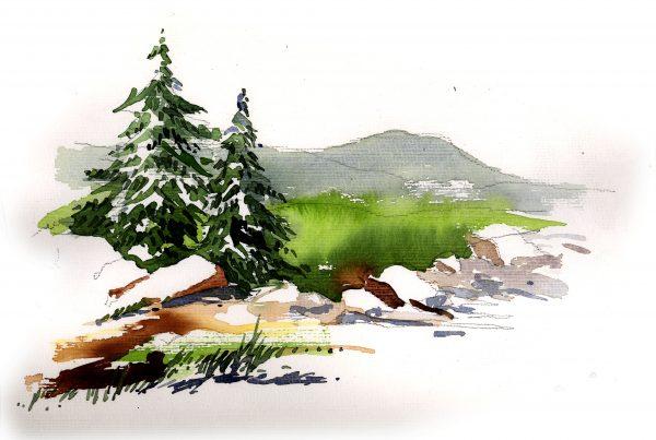 Landschaften im Reiseaquarell-neuer Termin